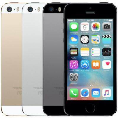 Apple iPhone 5S - GSM Unlocked - 16GB 32GB 64GB - Gold Gray Silver - Smartphone