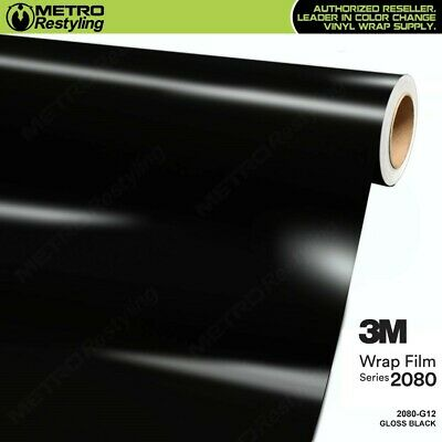 3M 1080 Series GLOSS BLACK Vinyl Vehicle Car Wrap Decal Film Roll G12