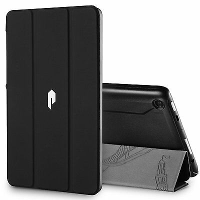 For Amazon Fire HD 8  Fire 7 Poetic Slimline Case PU Leather Stand Folio Cover
