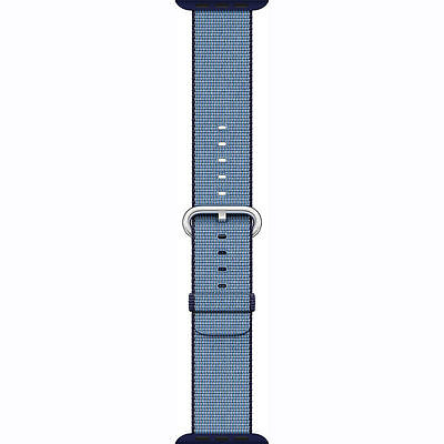 Genuine Apple Watch Woven Nylon Band 38mm NavyTahoe Blue - New Other