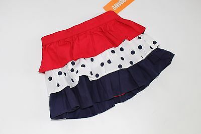 Gymboree Fourth Of July Girls Size 12-18 Months NWT Ruffle Skirt Red Blue NEW