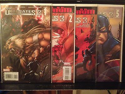 Lot of 4 Ultimates 3 1 2 4 5 2008 Series Marvel Combined Shipping Deal