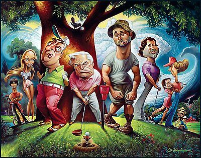 A Tribute To Caddyshack Fine Art Print 22 by 28 By Artist David Okeefe