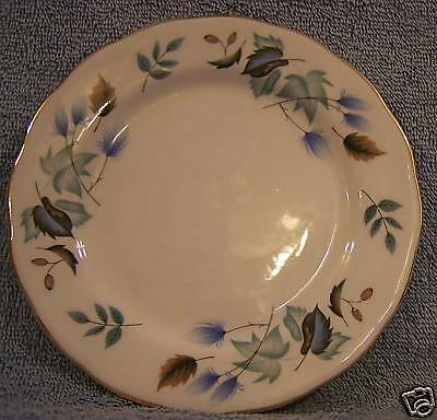 Colclough 8162 Blue Green Leaves Lot of 2 Salad Plates-England