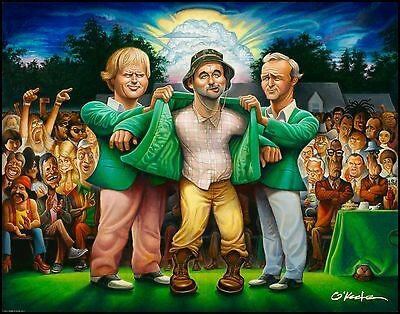 The Green Jacket- Giclée Print 22 by 28 By Artist David Okeefe