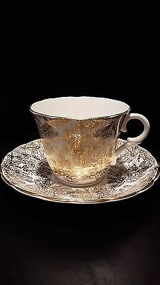 Colclough tea cup and saucer Gold guild pattern  beautiful made in England