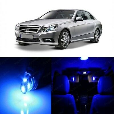 19 x Super Blue LED Interior Light Package For 2010 -2013 Mercedes E Class W212