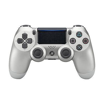 PS4 Sony Dualshock 4 Wireless Controller for PlayStation 4 - Silver - CUH-ZCT2U