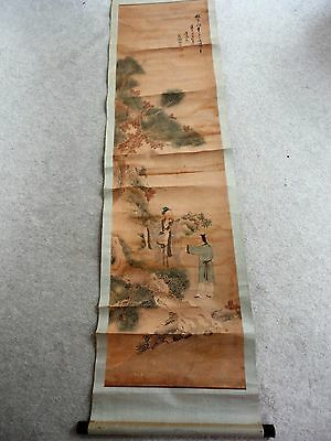 RARE 19th Century Antique Old Chinese Painting Signed by Artistl