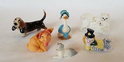 Lot of 6 Vintage Collectable Miniature Figurines Hager Renaker and Others