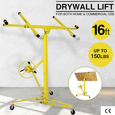 Drywall Lift 16 19 Panel Hoist Jack Rolling Caster Construction Lockable Tool