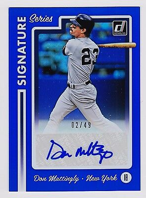 2017 Donruss Signature Series - Don Mattingly - Autograph -  2 of 49 - Mint