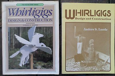 Lot of 2 Whirligigs Design and Construction Books by Anders S-Lunde PB 1982 - 86