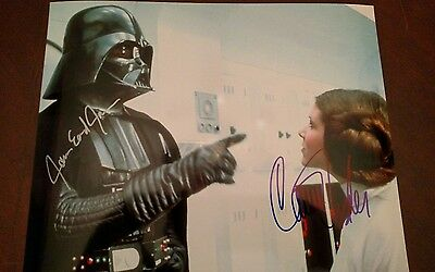 Carrie Fisher - James Earl Jones Hand Signed 8 x 10 Color Photo W COA