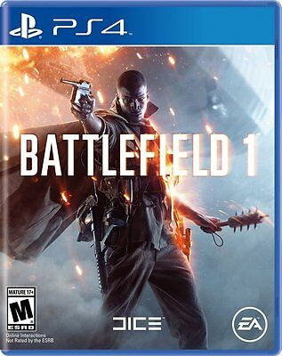 Battlefield 1 Video Game for Sony PlayStation 4 Brand New