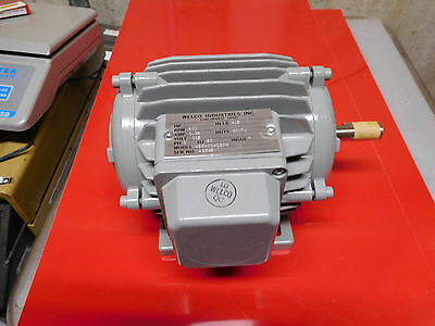 WELCO Industries model 480-01-1204 electric motor 115v 600 rpm 12 shaft NEW