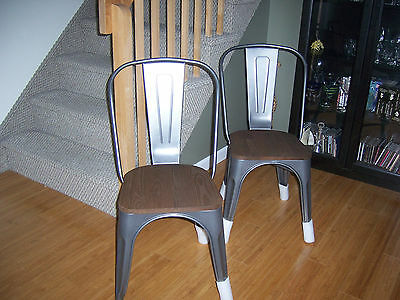 Set of 2 NEW diningbistrokitchen wood - metal chairs