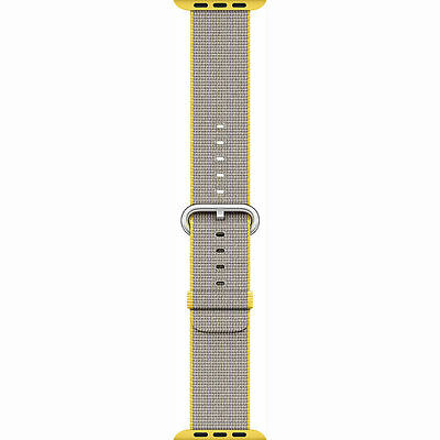 Genuine Apple Watch Woven Nylon Band 38mm YellowLight Gray MNK72AMA - VG