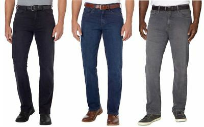 NEW-URBAN STAR Mens Relaxed Fit Jeans Black Blue Gray Waist Size 30 to 44