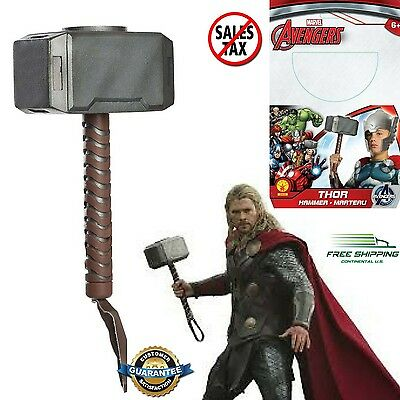 Thor Hammer Marvel Avengers Prop Mjolnir Replica Costume Accessory The Battle