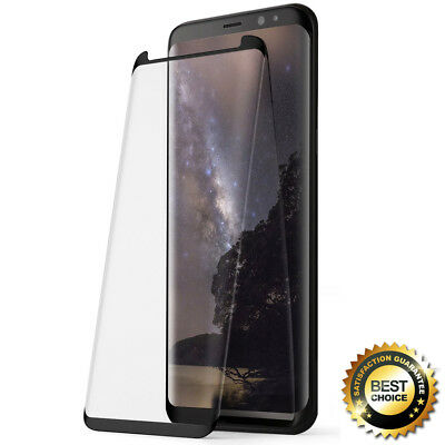 Upgrade Poetic For Samsung Galaxy S8 Plus Tempered Glass Screen Protector Black