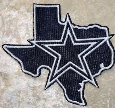 Dallas Cowboys  3-5 State Iron On Embroidered Patch USA SellerFREE Ship