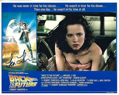LEA THOMPSON signed BACK TO THE FUTURE color 8x10 w coa BEAUTIFUL ON PROM NIGHT