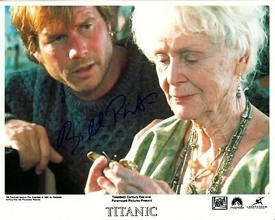 BILL PAXTON hand-signed TITANIC 8x10 w uacc rd coa GLORIA STUART COLOR CLOSEUP