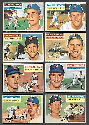 1956 Topps Baseball Card Lot 8 Different VGEX Range Red Sox