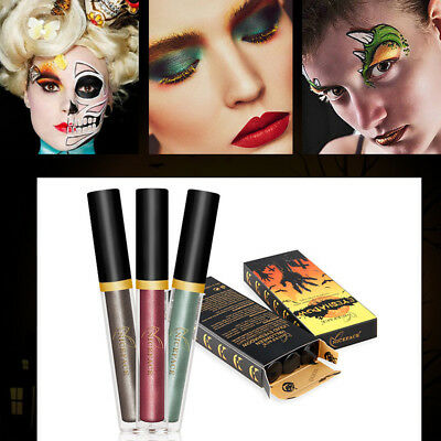 3 COLOR SET HALLOWEEN LIMITED EDITION GLITTER LIQUID EYE SHADOW FOR MAKEUP PARTY