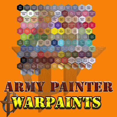 The Army Painter Warpaints 93 Different Acrylic Colors 18 ML Eyedropper Bottle