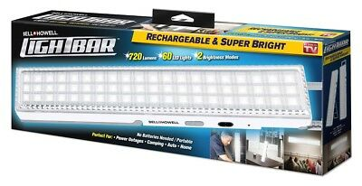 Bell - Howell Lightbar -Super Bright 60 LEDs in Rechargeable Bar -As Seen on TV