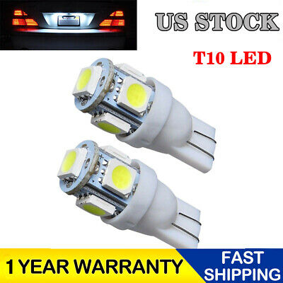 2pcs T10 5-SMD 5050 Super White LED Light Bulbs 192 168 194 W5W 2825 158 12V USA