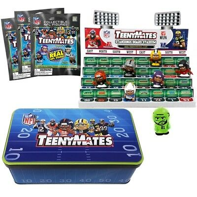 NFL Teenymates Series 6 Collector Tin With 3 packs Ex Chase PieceStadium