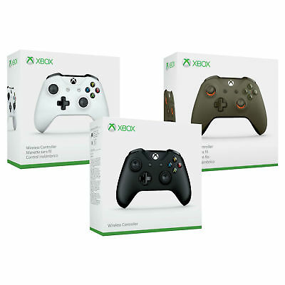 Xbox One S Microsoft Wireless Bluetooth Controller Black White Green Windows