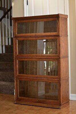 LAWYERS STACKED BOOKCASE - OAK BEAUTIFUL CONDITION