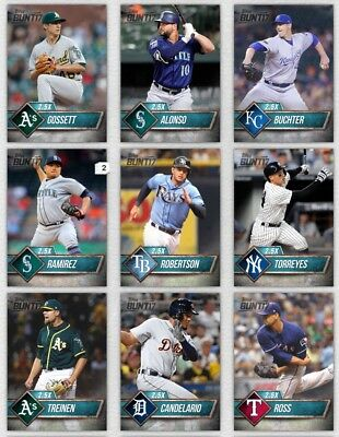 2017 Topps Bunt TEAL - YOU PICK 5 CARD LOT - SERIES 1 2 - UPDATE - 500- Cards