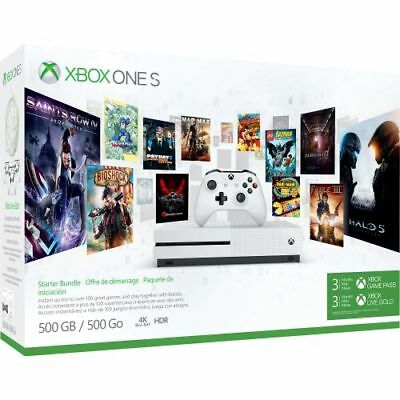 Microsoft Xbox One S Starter Bundle 500GB 3 Month Xbox Live and Game Pass