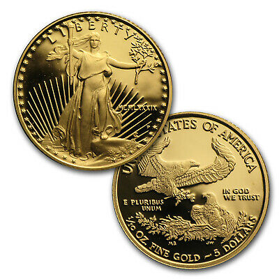 110 oz Proof Gold American Eagle Random Year Capsule Only - SKU 35500