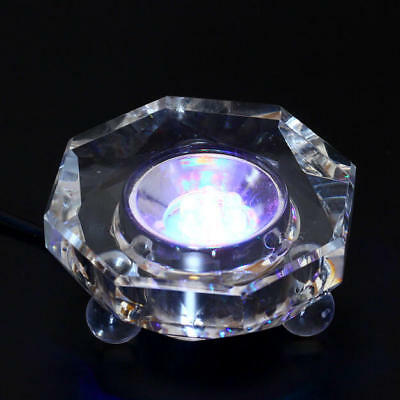 7LED Colored lights Illuminated Crystal Display Stand Base NEW With Charger