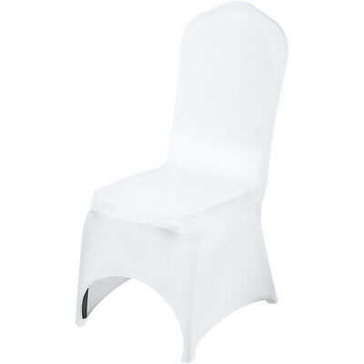 VEVOR 100pcs White Spandex Chair Covers For Wedding Banquet Party Ceremony Use