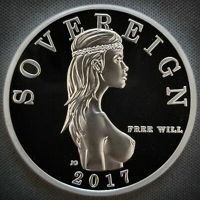 Free Will Bullion - 1 Troy Oz -999 Fine Silver Free Will Sovereign Proof Round