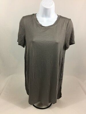 NWT Wet Seal Womens Gray Stretch Crewneck Short Sleeve Shirt Sz S