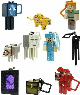 Minecraft Enderman Alex Mooshroom 10 PCS Keyring Keychain Hanger Minifigure Toys