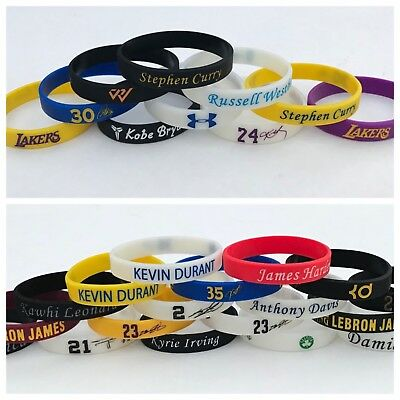 NBA PLAYERS SILICONE BRACELET