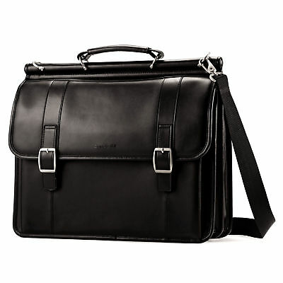 Samsonite Leather Leather Dowel Flapover Business Case
