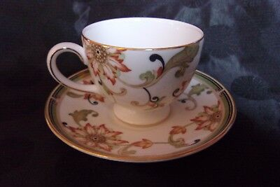 Wedgwood Oberon Footed Cup and Saucer Set MINT