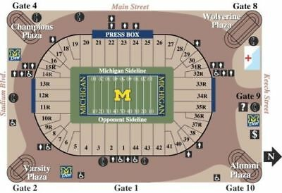 2 Tickets Michigan Wolverines Football vs Ohio State 112517