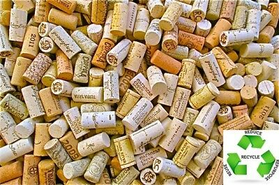 Wine Corks 100 ALL Natural New Mix of Logos NOT USED 5 10 20 25 50 100 200 500