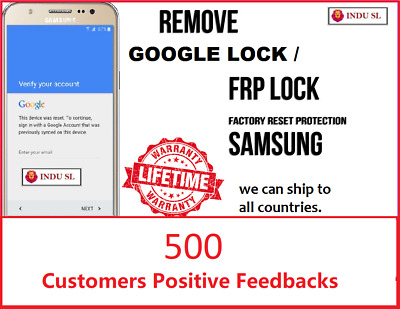 FRP Lock Google Lock Remove Service For All Samsung Models